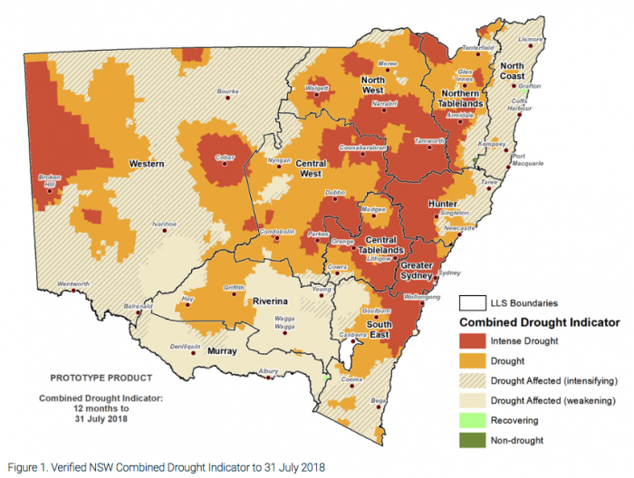 Drought declared NSW August 2018